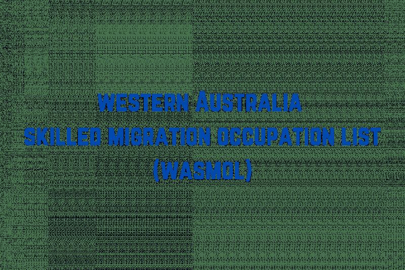 Western Australia Skilled Migration and graduate stream occupation list
