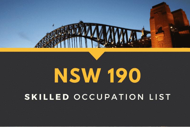 NSW 190 skilled occupation list